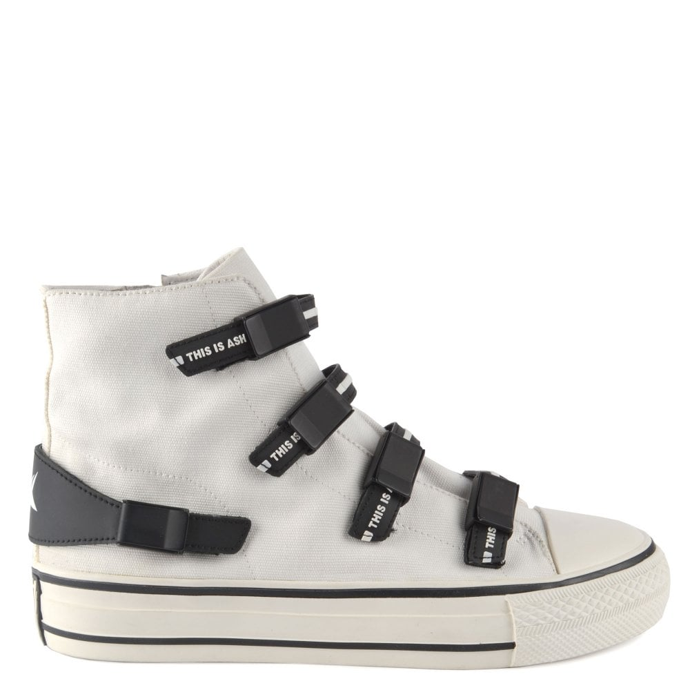 f2ea6dff947dc Ash Virgo Buckle Trainers in White Canvas   Shop ASH Spring Summer 19
