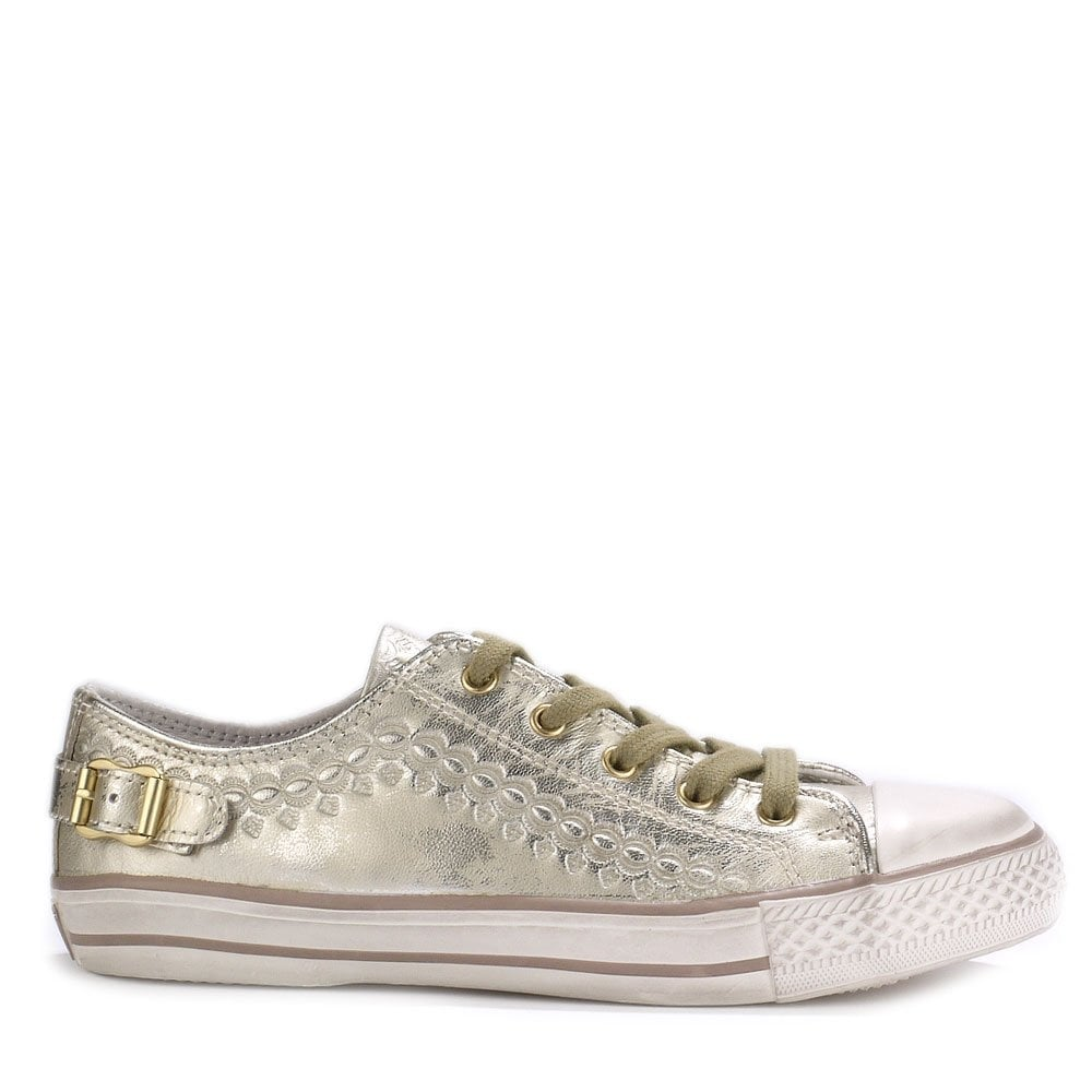 Ash Virgo Trainers in Gold Leather