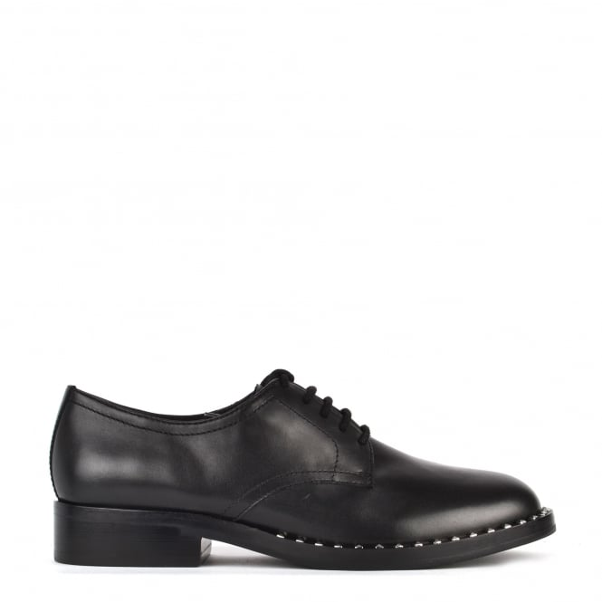 Ash WILCO Lace Up Shoes Black Leather & Silver Studs