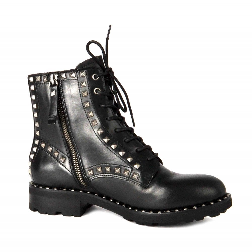 Ash Wolf Black Leather Biker Boots Shop The Official Collection
