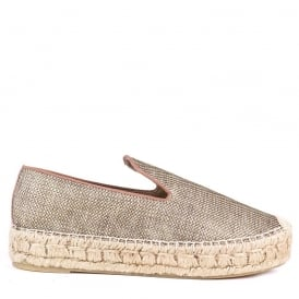 XEM Espadrilles Gold and Silver Mesh