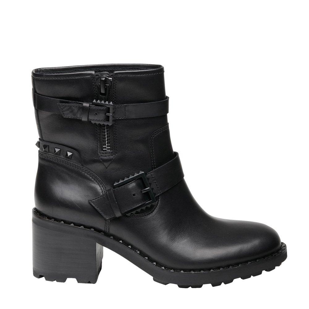 Ash Xenon Black Leather Biker Boots | Shop The Official Collection