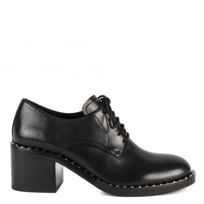 Ash XENOS Block Heel Shoes Black Leather