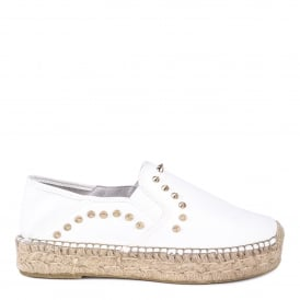 XIAO Slip On Espadrilles White Leather