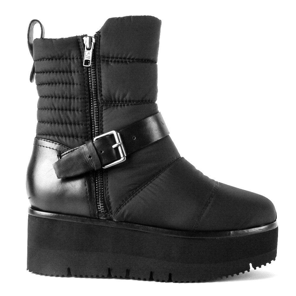 ad7d47b3bcdab ZELDA Quilted Platform Boots Black