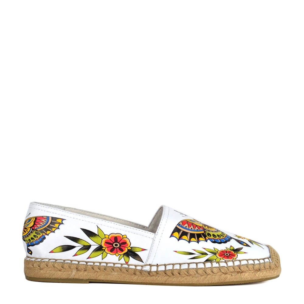 8981669cd7ff3 ZEN Espadrilles White Leather & Floral Animal Print