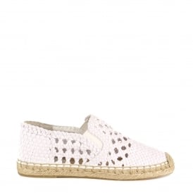 ZERIA Espadrilles Woven Off White Canvas