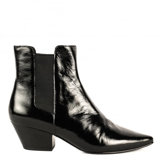 Ash CLASH Boots Black Vinyl Leather