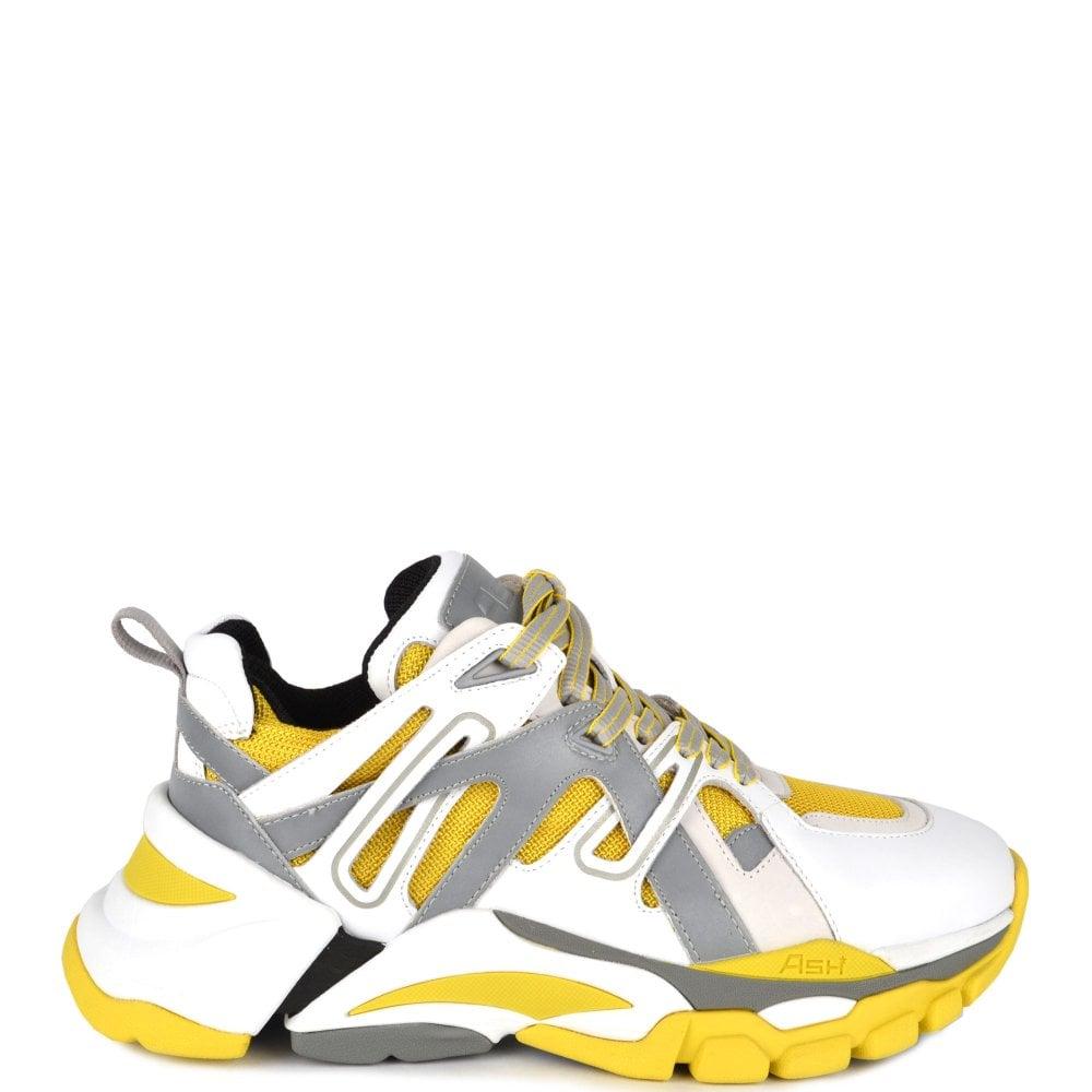 FLASH Trainers in White \u0026 Yellow