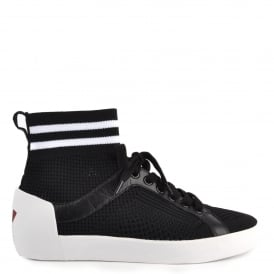 NINJA Trainers Black & White Stretch Mesh Knit
