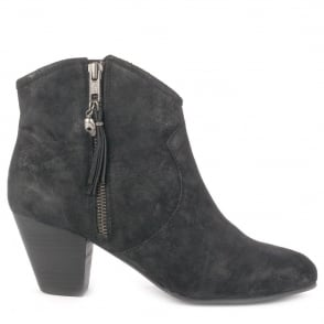 Ash JESS Boots Black Distressed Suede