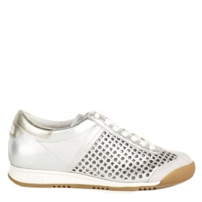 Ash SPIN Trainers Silver Leather